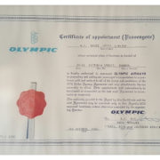 OLYMPIC-CERT-OF-APPOINTMENT
